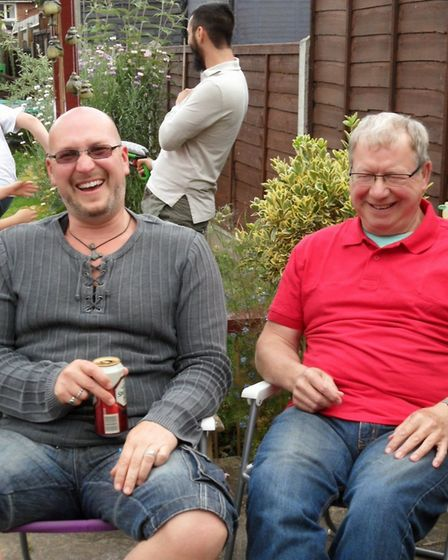 Ray Byfield (pictured on the right with his son Tony) sadly died in June from pulmonary fibrosis. Pi