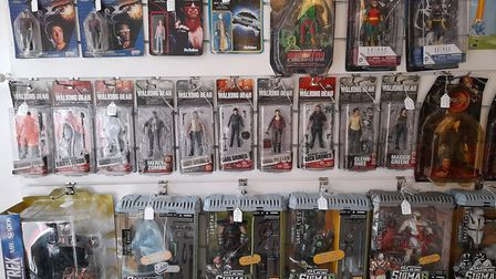 The shop is filled with nostalgic film and TV collectables including Star Wars and The A-Team amongs