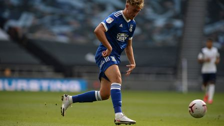 Jack Lankester during Tottenham's friendly with Ipswich. Picture Pagepix
