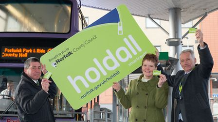 Library picture of Norfolk County Council unveilling the 'holdall', the new smartcard which park and