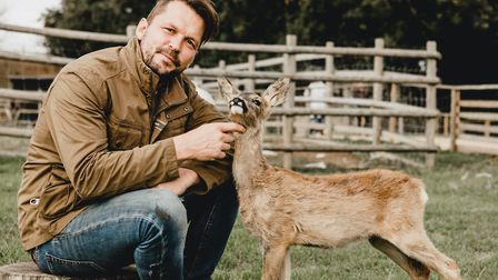 Jimmy Doherty keeps a menagerie of animals for visitors to enjoy on his farm near Ipswich Picture: