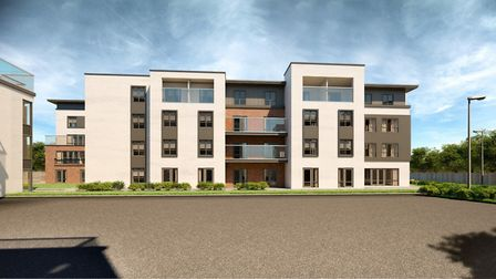 A CGI image of the care home which is planned for a site in Stowmarket town centre Picture: ADG ARC