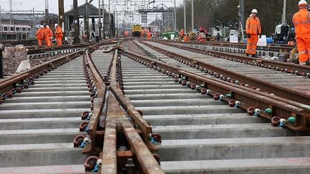 Network Rail is to replace track at Colchester. Picture: NETWORK RAIL