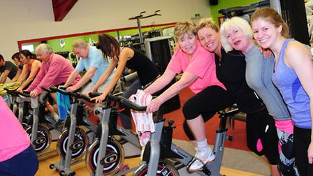 The charity spinathon to raise cash for Thorpe St Andrew husband and wife, Jayne and Ian Lovewell, w