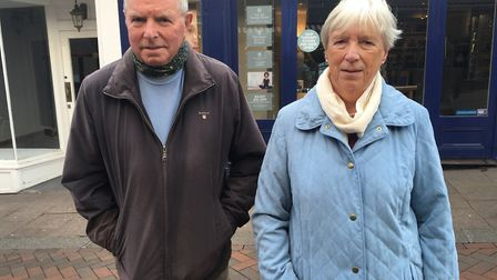 Jean and Rod Hargreaves are not currently worried by the number of coronavirus cases in West Suffolk Picture: MARIAM GHAEMI