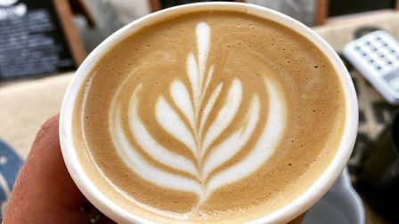 Warm up with a coffee, hot chocolate or cup of tea from Anthony at the Suffolk Coffee Pod Picture:
