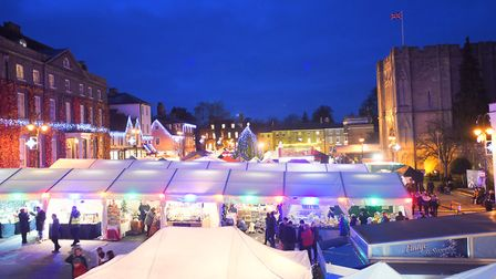 The popular Bury St Edmunds Christmas Fayre pictured in 2016 Picture: GREGG BROWN