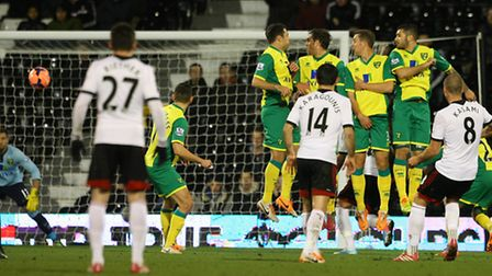 Match action between Fulham and Norwich City at Craven Cottage earlier in the season during the FA C