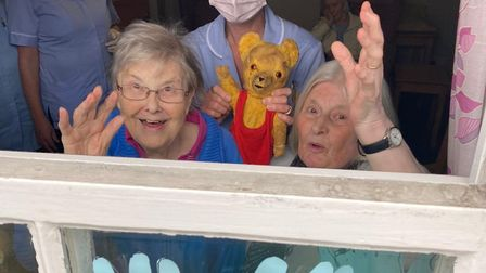 The Beeches care home in Ixworth is encouraging the community to join them for a 'Wednesday Wave' to help combat...