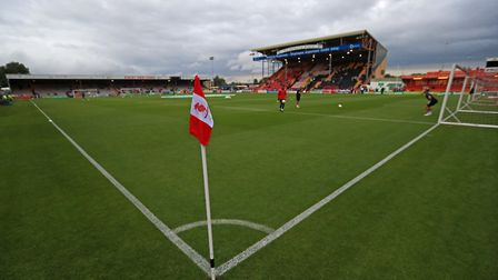 A general view of Sincil Bank, where Town don't have a great record