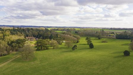An aerial shot of Hardwick Manor, which comes with extensive grounds Picture: SAVILLS