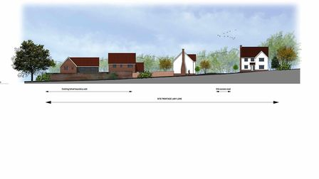 A conjectural street scene of what the proposed homes would look like off Lady Lane in Hadleigh. Picture: PATRICK ALLEN...