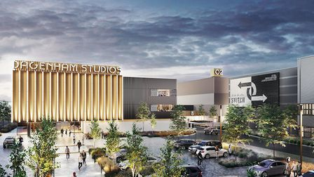 An artist's rendition of the film studios planned for Dagenham East. Picture: Be First