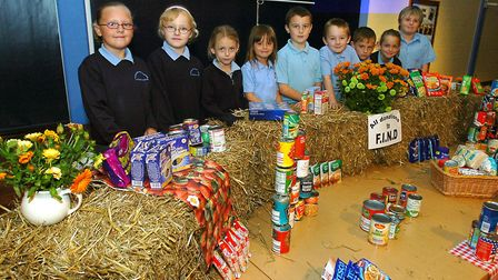 Harvest festival at The Willows Primary School, Ipswich in 2007 Picture: PHIL MORLEY