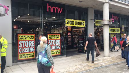 The HMV store at the Arc shopping centre in Bury St Edmunds, before it closed in January Picture: SARAH CHAMBERS