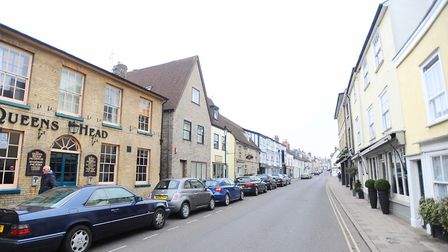 Churchgate Street, Bury St Edmunds - one of the locations where residents have complained about park