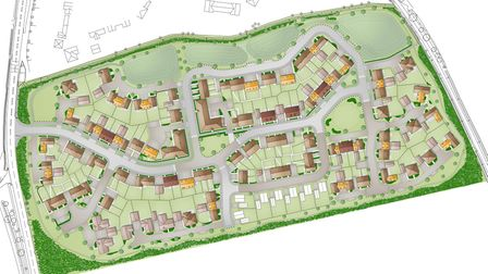A view of how the new site could look in Pettistree Picture: HOPKINS HOMES
