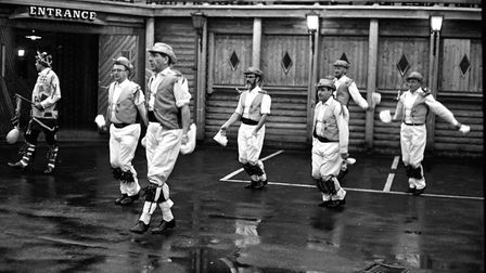 Morris men dancing at the Running Buck, Ipswich, in April 1969 Picture: ARCHANT