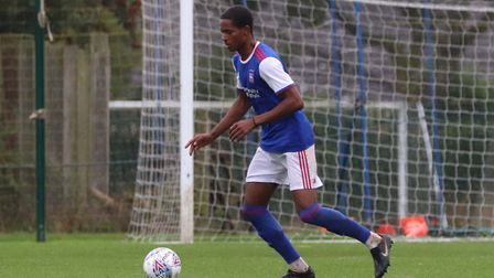 Levi Andoh in action for Town's Under 23 side Picture: ROSS HALLS