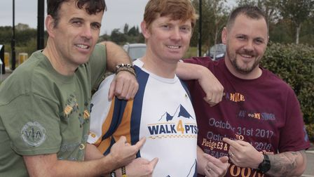 Trevor Coult with other walkers on an event to raise awareness of PTSD in 2017 Picture: ARCHANT