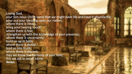 This prayer has been released by the Association of English Cathedrals as the whole nation faces renewed restrictions in...