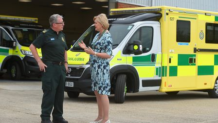 Chief executive Dorothy Hosein, right, is currently on sick leave from the East of England Ambulance