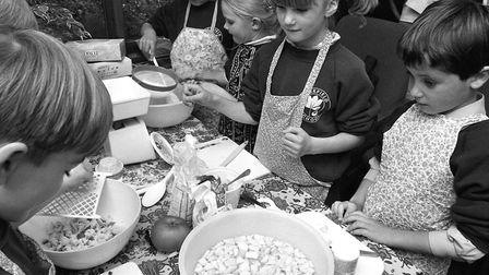 Apple Day at Cockfield School in September 1993 Picture: ARCHANT