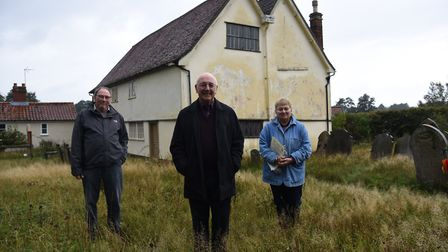 Simon Weeks, minister Bill Mahood and Anne Thomas are aiming to raise funds to repair Walpole Old Chapel Picture...