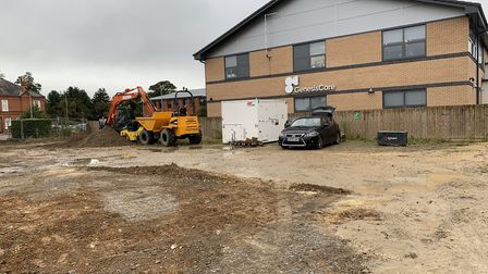 The new site is being built at The Oaks Business Park in Newmarket. Picture: HAMILTON LAND