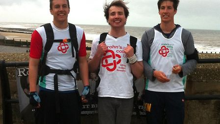 Karl Warnes, from Castle Acre, ran almost 50 miles along the Norfolk coast path to raise money for i