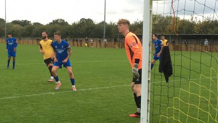 Bury Town's young keeper Joe Rose was man-of-the-match during the 1-0 defeat at Loughborough Dynamo.