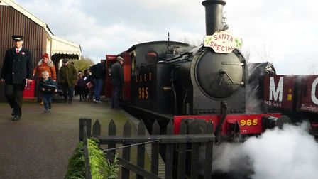 Santa Special trains will be returning to the Middy in December. Picture: MID SUFFOLK LIGHT RAILWAY