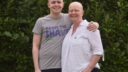 Ben decided to brave the shave for his mum Rachel after brother Nathaniel and dad Ed took the plunge in a fundraising...
