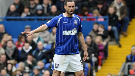Damien Delaney gives out orders during his time at Ipswich Town. He recovered from an horrific injur