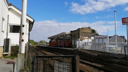 Work has yet to be completed at Saxmundham railway station Picture: ARCHANT