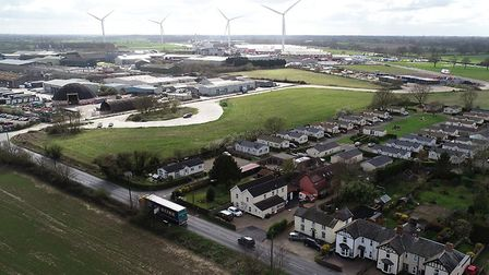 New roundabouts are being built on the A140 at Eye Airfield. Picture: SUFFOLK COUNTY COUNCIL