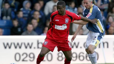 Ipswich Town striker Kevin Lisbie, who was unhappy with the treatment dished out by manager Roy Kean
