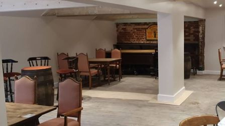 The renovation of the old pool room in The Railway Inn has now been completed. Picture: THE RAILWAY INN