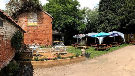 The garden of The Railway Inn was also renovated during lockdown. Picture: THE RAILWAY INN