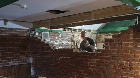 Owner Darren Springle said he always wanted to renovate the Framlingham pub and lockdown was a good opportunity for it.