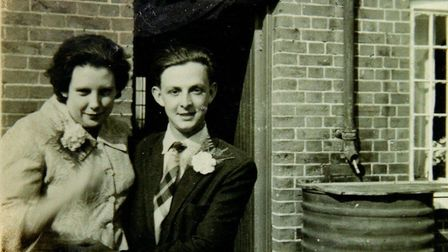 Mr Utting met his wife-to-be Kitty at a dance in his late teenage years. Picture: UTTING FAMILY