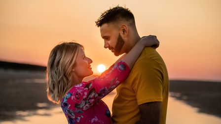 Suffolk musician Jake Aldridge proposed to his girlfriend Lisa Hartgrove two years after they met on Tinder. Picture: LIZ BIS...