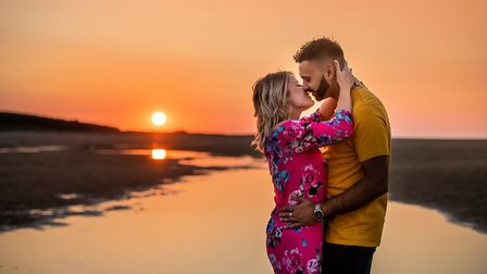 Suffolk musician Jake Aldridge proposed to his girlfriend Lisa Hartgrove two years after they met on Tinder at the same place...