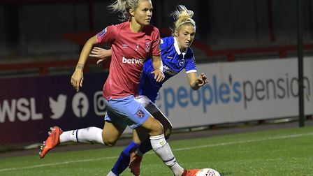 Rachel Daly in action (Pic: Arfa Griffiths Photographers)