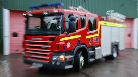 A crew from Wymonhdam attended the arson.