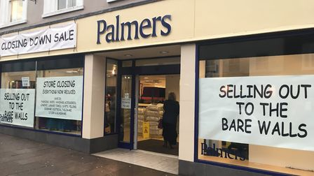 The old Palmers fashion store in Bury St Edmunds is a Grade II listed building in the town centre conservation area...