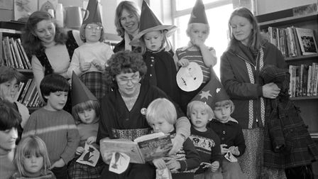 Halloween Day at Felixstowe Library in October 1979 Picture: ARCHANT