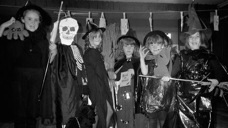 Acton and Waldingfield Brownies celebrate Halloween in October 1987 Picture: ARCHANT
