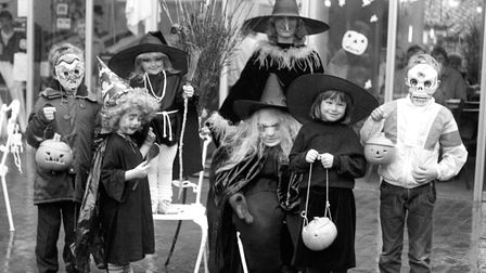 Youngsters all dressed up for Halloween at Woodbridge in October 1987 Picture: ARCHANT