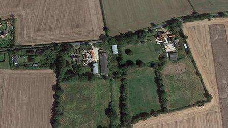 The new homes are set to be built in Gislingham Picture: GOOGLE EARTH